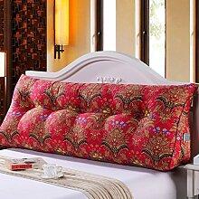 SESO UK- Schlafsofa Großes gefülltes dreieckiges Keilkissen Schlafzimmer Bett Rückenlehne Kissen mit abnehmbarem Bezug ( größe : 100*50*23cm )