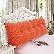 SESO UK- Schlafsofa Großes gefülltes dreieckiges Keilkissen Schlafzimmer Bett Rückenlehne Kissen Lesekissen Büro Lendenwirbelsäule mit abnehmbarem Bezug ( Farbe : Orange , größe : 100*50*20cm )