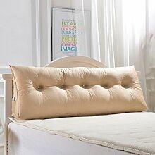 SESO UK- Schlafsofa Großes gefülltes dreieckiges Keilkissen Schlafzimmer Bett Rückenlehne Kissen Lesekissen Büro Lendenwirbelsäule mit abnehmbarem Bezug ( Farbe : Beige , größe : 120*50*20cm )