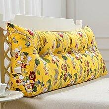SESO UK- Schlafsofa Großes gefülltes dreieckiges Keilkissen Schlafzimmer Bett Rückenlehne Kissen Lesekissen Büro Lendenwirbelsäule mit abnehmbarem Bezug ( größe : 200*50cm )