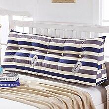SESO UK- Schlafsofa Großes gefülltes dreieckiges Keilkissen Schlafzimmer Bett Rückenlehne Kissen mit abnehmbarem Bezug ( größe : 60*45*21cm )