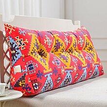 SESO UK- Schlafsofa Großes gefülltes dreieckiges Keilkissen Schlafzimmer Bett Rückenlehne Kissen Lesekissen Büro Lendenwirbelsäule mit abnehmbarem Bezug ( Farbe : Cushion-7 , größe : 100*50*20cm )
