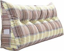 SESO UK- Schlafsofa Großes gefülltes dreieckiges Keilkissen Schlafzimmer Bett Rückenlehne Kissen Lesekissen Büro Lendenwirbelsäule mit abnehmbarem Bezug ( Farbe : Grün , größe : 180*50cm )