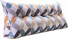 SESO UK- Schlafsofa Großes gefülltes dreieckiges Keilkissen Schlafzimmer Bett Rückenlehne Kissen Lesekissen Büro Lendenwirbelsäule mit abnehmbarem Bezug ( Farbe : Cushion-1 , größe : 200*50*20cm )