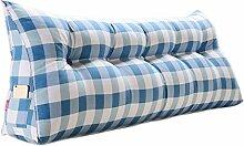 SESO UK- Schlafsofa Großes gefülltes dreieckiges Keilkissen Schlafzimmer Bett Rückenlehne Kissen Lesekissen Büro Lendenwirbelsäule mit abnehmbarem Bezug ( Farbe : Cushion-3 , größe : 150*50*20cm )