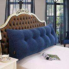 SESO UK- Schlafsofa Großes gefülltes dreieckiges Keilkissen Schlafzimmer Bett Rückenlehne Kissen Lesekissen Büro Lendenwirbelsäule mit abnehmbarem Bezug ( Farbe : Denim Blue , größe : 180*50*20cm )