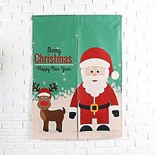 SESO UK- Weihnachten Baumwoll Leinen Tür Tür Tür Vorhang Schattierung Schlafzimmer Badezimmer Tapisserie Raumteiler Wandbehänge - reduziert Wärmeverlust, verhindert Zugluft, spart Energie ( Farbe : #7 , größe : 85*120cm )