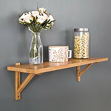 SESO UK- Wooden Wall Shelves Buch Regal Home Decoration Display Lagerung Rack Frame Partition ( größe : M:80cmx20cmx20cm )