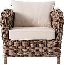 Sessel aus Rattan Landhausstil