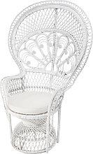 Sessel aus weißem Rattan Philippine
