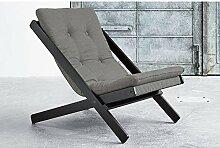 Sessel Boogie schwarz mit Matratze Futon Farbe