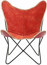 Sessel Butterfly Schweden rot Kare Design