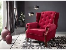 Sessel Chesterfield 102x93x102 rot OXFORD