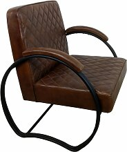 Sessel Clubsessel Lounge Leder in coffee braun