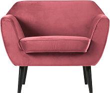 Sessel Cocktailsessel Rocco Samt pink
