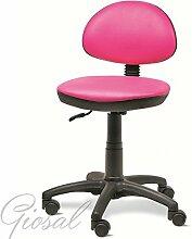 Sessel Dattilo Büro Kunstleder Verstellbare Rollen schwarz verschiedenen Farben giosal bordeaux