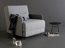 Sessel Fluxe Loungesessel Sessel mit Schlaffunktion Schlafsessel Polstersessel Einsitzer Armlehnensessel Lounge Sessel Stoffbezug - Innovation Design, Bezug:558 Textil Indigo Sof