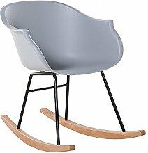 Sessel Grau - Stuhl - Schaukelstuhl - Fernsehsessel - Schwingstuhl - Stillstuhl - HARMONY