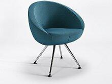 Sessel Hotel Club Bar Designer Polster hochwertig Webstruktur Sessel LOBO 4NP C, Farbe:Türkisblau - L85