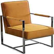 Sessel im Retro Design Hellbraun Stoff