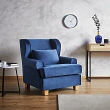 Sessel in Blau 'Matteo'