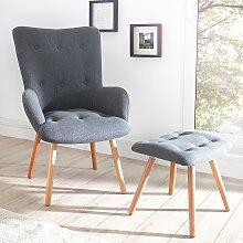 Sessel inkl. Hocker - Nordland