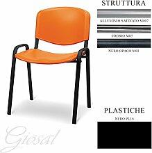 Sessel Jupiter Sitz Kunststoff Gästehandtuch Warteraum Büro verschiedenen Farben giosal schwarz