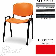 Sessel Jupiter Sitz Kunststoff Gästehandtuch Warteraum Büro verschiedenen Farben giosal ro