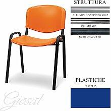 Sessel Jupiter Sitz Kunststoff Gästehandtuch Warteraum Büro verschiedenen Farben giosal blau