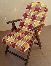 Sessel Liegestuhl Amalfi aus Holz mit 4Positionen Kissen gefüllt H 105cm Wohnzimmer Küche Lounge Sofa bordeaux