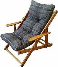 Sessel Liegestuhl Relax 3Positionen aus Holz zusammenklappbar Kissen gefüllt H 100cm Wohnzimmer Küche Lounge Sofa Chair Sofa '380076
