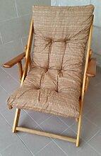 Sessel Liegestuhl Relax aus Holz zusammenklappbar Kissen gefüllt H 100cm Wohnzimmer Küche Lounge Sofa Camping