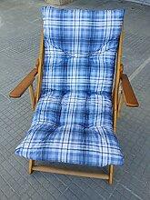 Sessel Liegestuhl Relax aus Holz zusammenklappbar Kissen gefüllt H 100cm Wohnzimmer Küche Lounge Sofa