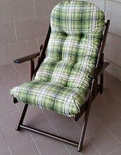 Sessel Liegestuhl Relax aus Holz zusammenklappbar Kissen Super Gepolsterte H 100cm Wohnzimmer Küche Lounge Sofa Walnuss