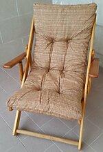 Sessel Liegestuhl Relax (braun) aus Holz