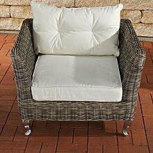 Sessel mit Auflage Garten Living Farbe: Grau