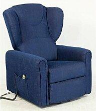 Sessel mit Aufstehhilfe MAGIC, 2 Motoren. Large. Dunkelblauer Stoffbezug