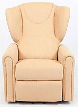 Sessel mit Aufstehhilfe MAGIC, 2 Motoren. Large. Ockergelber Stoffbezug