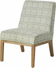 Sessel mit Bezug aus geflochtener Baumwolle,