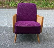 Sessel mit geflochtenen Armlehnen, 1950er