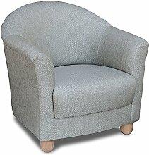 Sessel mit Hocker Beige/Grün Gemustert Sessel: Außenmaß 83 cm Gesamttiefe 86 cm Höhe 82 cm Sitzhöhe 43 cm Sitztiefe 53 cm Seitenteilhöhe 64 cm Hocker 55 x 55 cm Höhe 43 cm ERGE Polstermöbel