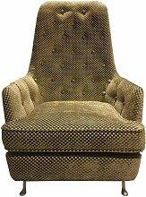 Sessel mit Knopfpolsterung und Metallfüßen,