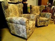 Sessel mit Konischen Beinen, 1960er, 2er Set