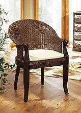 Sessel mit Sitzkissen in verschiedenen Farben, Dunkelbraun