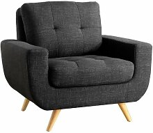 Sessel Nolin ClassicLiving Polsterfarbe: Anthrazit