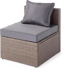 Sessel ohne Armlehne Bayamo, grau