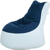 Sessel Sitzsack in Weiß Blau modern