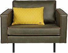 Sessel Sofa RODEO Echtleder Leder Lounge Couch Armsessel army