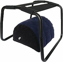 Sessel Stühle und Aufblasbar Sofas mit Loch Stapelbare Stühle Aufblasbar Kissen Stuhl Sofa Schaukelstühle Multifunktion 27 Gebrauchsarten Empfohlen Tragfähigkeit 200 LB Elastischer Stuhl (50x43x39CM, Schwarz Stuhl und Aufblasbar Sofa)