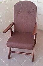 Sessel Stuhl Hochlehner Holz Relax 4Positionen Kissen gefüllt H 105cm Wohnzimmer Küche Lounge Sofa